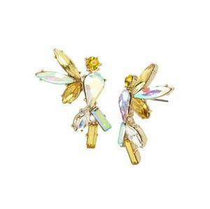 Betsey Johnson iridescent gem earrings